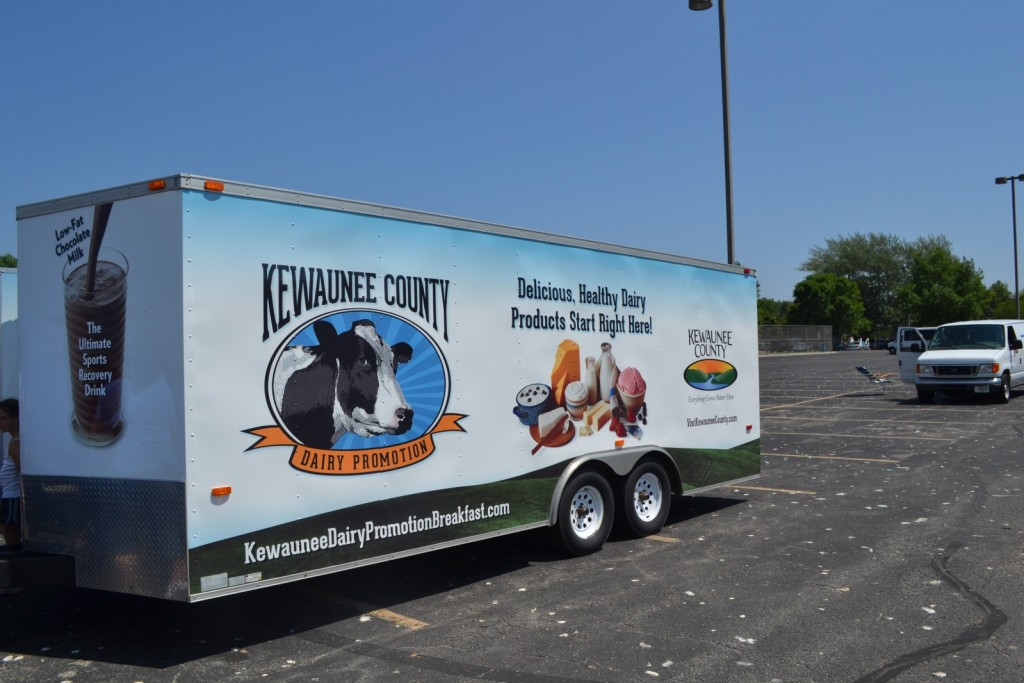 Kewaunee County Dairy Promotion Trailer