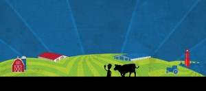 Kewaunee County Dairy Promo Farm Graphic