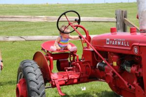 Cute Baby on a Tractor at 2016 Kewaunee County Breakfast on the Farm