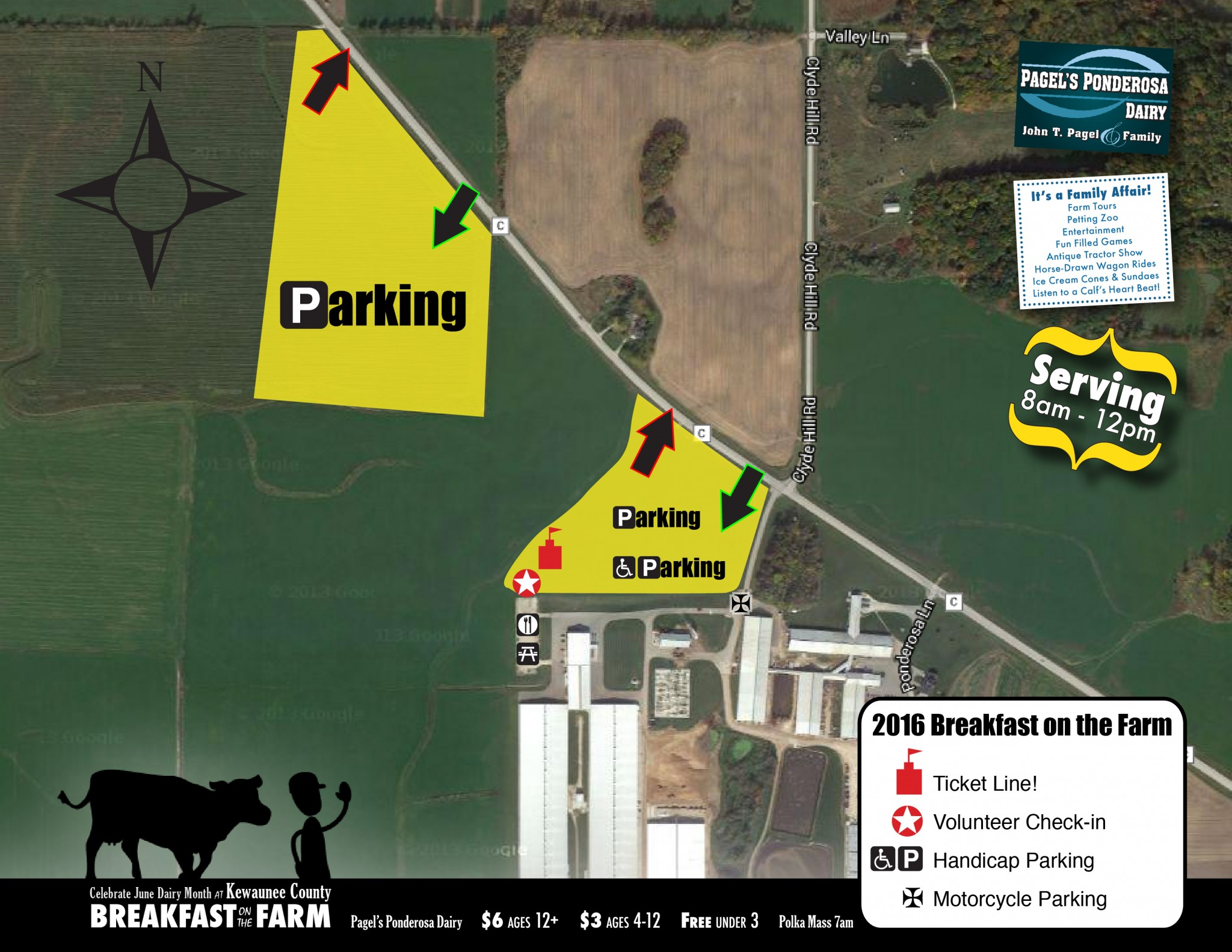Parking for 2016 Breakfast on the Farm