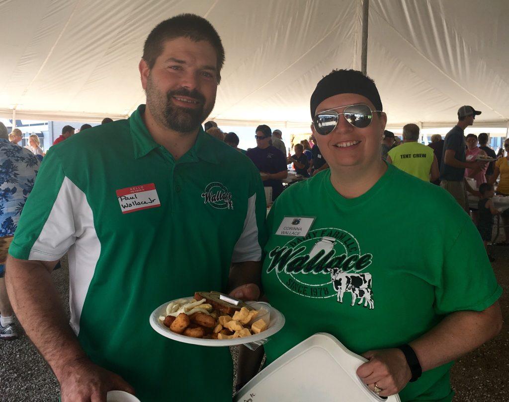 Wallace Dairy Farm enjoy's the 2016 breakfast -- 2017 Kewaunee County Breakfast on the Farm will be hosted by Wallace Dairy Farm