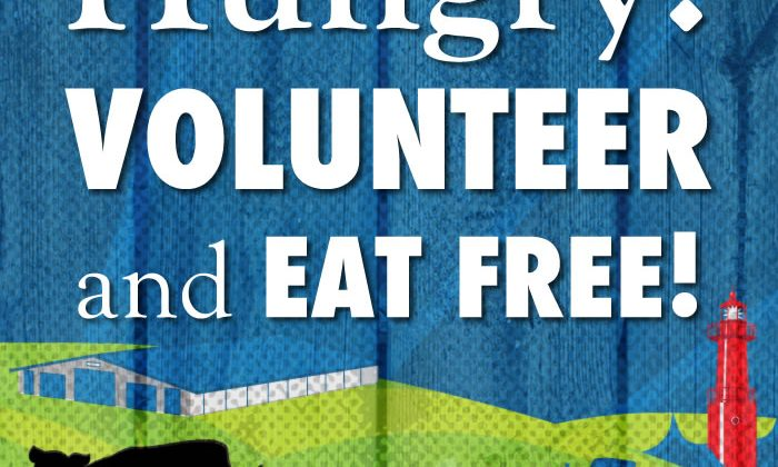 Volunteers Eat Free – 2016 WE WANT YOU!