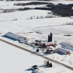 Junion Homestead Farm Winter Aerial Photo