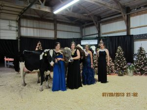 The Knorn girls showing in Futurity